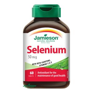 Jamieson Selen 50µg s betakarotenem a vitamíny C a E 60 tablet