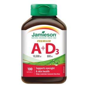 Jamieson Vitamíny A a D Premium 10000 IU/ 800 IU 100 kapslí