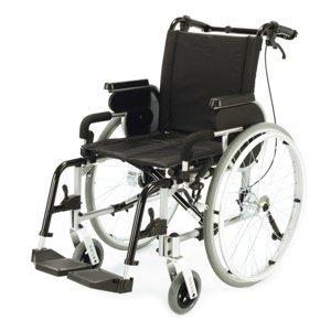DMA Primeo plus Invalidní vozík s brzdami pro doprovod šířka sedu 48 cm