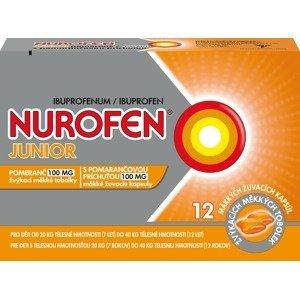 Nurofen Junior Pomeranč 100mg žvýkací měkké tobolky 12ks