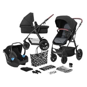 Kinderkraft Xmoov Kombinovaný kočárek 3v1 Black