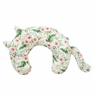 New Baby Kojící polštář Kočka Velvet růže
