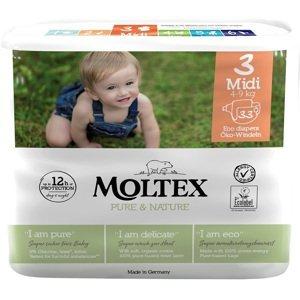 Moltex Dětské plenky Pure & Nature Midi 4-9 kg, 33ks