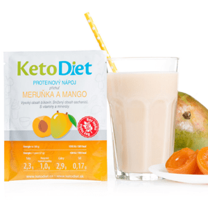 KetoDiet Proteinový nápoj meruňka a mango 7porcí