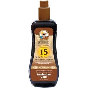 Australian Gold Spray Gel + Bronzer SPF 15 237ml