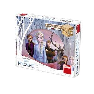Dino Dřevěné kostky Frozen II 12ks