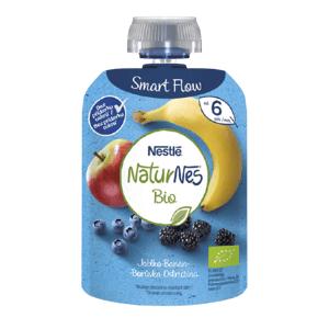 Nestlé NaturNes BIO kapsička jablko, banán, borůvka, ostružina 90g