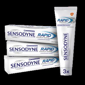 Sensodyne Bělicí zubní pasta rychlá úleva Rapid Whitening 3x75ml