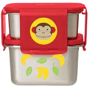 Skip Hop Zoo misky nerez Jídlonosič 2 ks Opička 3+