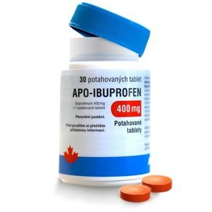 Apo-Ibuprofen 400 mg 30 potahovaných tablet
