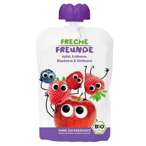 Freche Freunde BIO Ovocná kapsička jablko, jahoda, borůvka a malina 100g