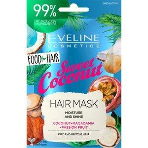 Eveline Cosmetics  Eveline FOOD FOR HAIR – Vlasová maska Coconut 20ml
