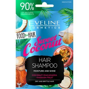 Eveline Cosmetics  Eveline FOOD FOR HAIR – Šampon na vlasy Coconut 20ml