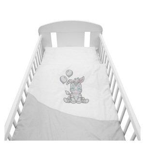 New Baby 2dílné ložní povlečení Zebra exclusive 90x120cm bílo-šedé
