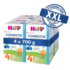 HiPP 4 JUNIOR Combiotik mléko 4x700g