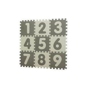Baby Dan hrací podložka puzzle Grey s čísly 90x90cm