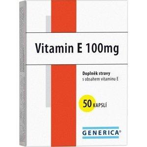 Generica Vitamin E 100mg 50 kapslí