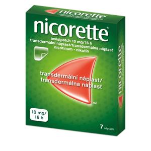 Nicorette® invisipatch 10 mg/16 h, transdermální náplast 7ks