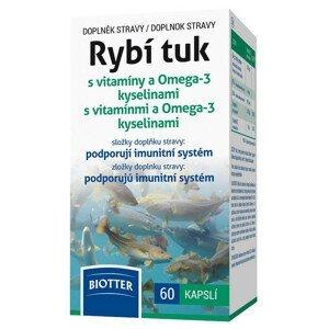 Biotter  Rybí tuk s vitamíny a Omega-3 kyselinami 60 kapslí