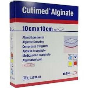 Cutimed Alginate 10x10cm 10ks algin.krytí na rány