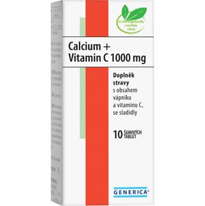 Generica Calcium + Vitamin C 1000mg 10 šumivých tablet