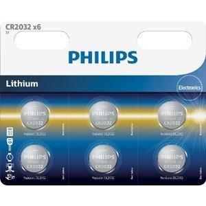 Philips Lithiové baterie knoflikové CR2032P6/01B 6ks