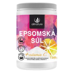 Allnature Epsomská sůl s vitamínem C 1000g