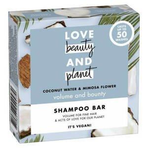 Love Beauty and Planet Tuhý šampon pro objem vlasů Coconut+Mimosa 90g