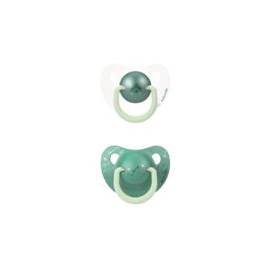 Suavinex Anatomické šidítko den/noc silikon 6-18m zelený medvěd 2ks