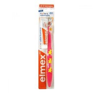 ELMEX Zubní kartáček dětský cvičný 0-3 roky + Zubní pasta 9,4 ml