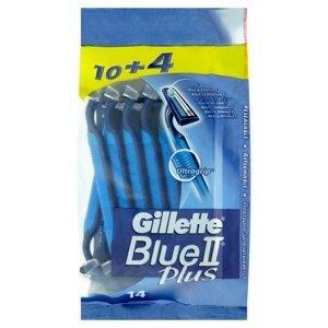 GILLETTE Blue II Plus Jednorázová holítka 14 ks