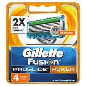 GILLETTE Fusion ProGlide Power náhradní hlavice pro muže 4 ks