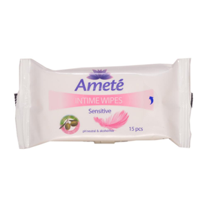 AMETÉ Sensitive Ubrousky pro intimní hygienu 15 kusů