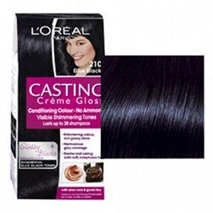 L'ORÉAL Casting Creme Gloss č.210 Modročerná