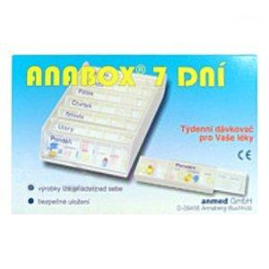 ANABOX Dávkovač na léky 7 dní Azurový