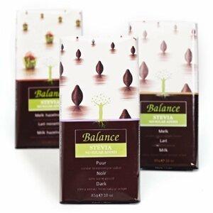 BALANCE Hořká čokoláda se stévií bez přidaného cukru 85 g