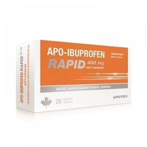 APO-IBUPROFEN RAPID 400 mg 20 mekkých tobolek