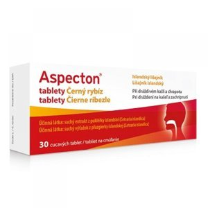 APOTEX Aspecton tablety na kašel černý rybíz 30 ks