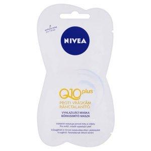 NIVEA Q10 Plus Vyhlazující pleťová maska proti vráskám 2 x 7,5 ml