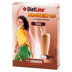 DIETLINE Protein 20 Koktejl Čoko 3 sáčky