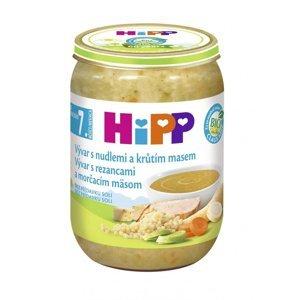 HiPP BIO Polévka vývar s nudlemi a krůtím BIO 190 g