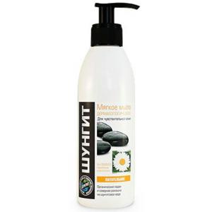 ŠUNGIT jemné dermatologické mýdlo na citlivou pokožku Výživné 300 ml