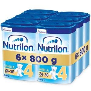 NUTRILON 4 Advanced Vanilla Pokračovací batolecí mléko od 24-36 měsíců 6 x 800 g