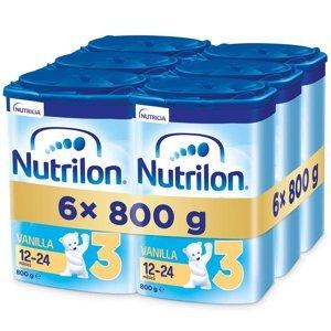 NUTRILON 3 Vanilla Pokračovací batolecí mléko od 12-24 měsíců 6x 800 g