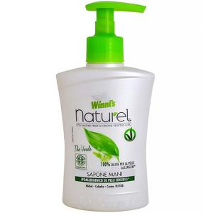 WINNI´S NATUREL Sapone Mani Thé Verde – hypoalergenní tekuté mýdlo na ruce se zeleným čajem a aloe vera 250 ml