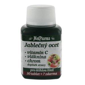 MEDPHARMA Jablečný ocet + vláknina + vitamin C + chrom 37 tablet