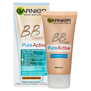 GARNIER Skin Naturals BB Cream Pure Active 5v1 Proti nedokonalostem Tmavší odstín 50 ml