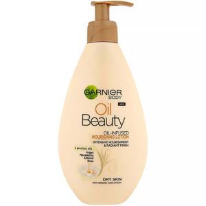 GARNIER Body Oil Beauty vyživující olejové tělové mléko 250 ml