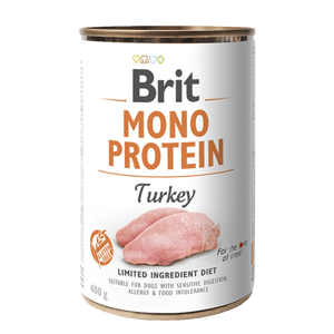 Brit MONO PROTEIN Turkey konzerva pro psy 400 g