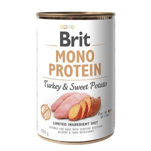 Brit MONO PROTEIN Turkey & Sweet Potato konzerva pro psy 400 g